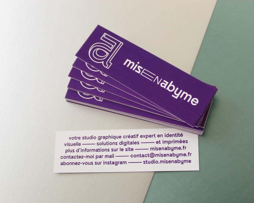 cartes de visite du studio Misenabyme
