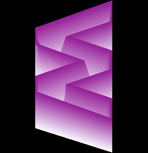 forme graphique dégradée en W
