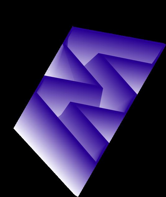 forme graphique dégradée bleue en W