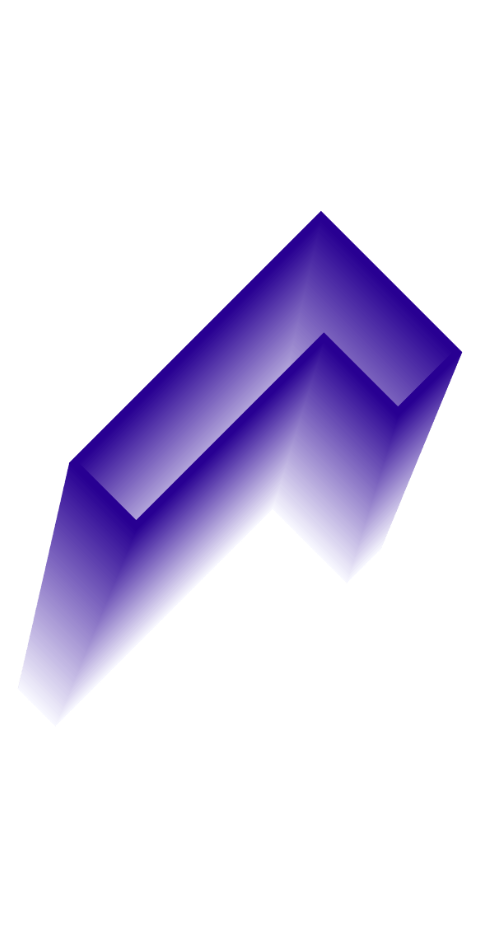 forme graphique dégradée en L