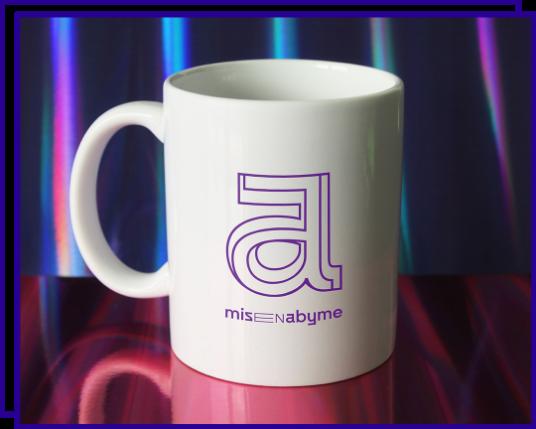 mug avec identité graphique Misenabyme