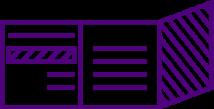 pictogramme dépliant