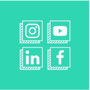 picto réseaux sociaux et cercle